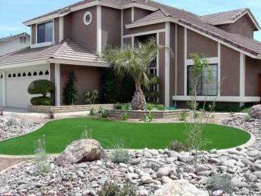 Artificial Grass Photos: Artificial Turf Installation Lake Panasoffkee, Florida Landscaping, Front Yard Design