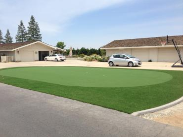 Artificial Grass Photos: Fake Lawn Ferndale, Florida Home Putting Green, Front Yard Landscaping